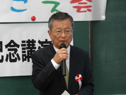 小金井市長・稲葉孝彦様のご祝辞