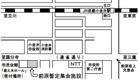 前原暫定集会施設の地図