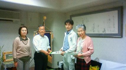 稲葉市長に講演会ポスターを渡しました