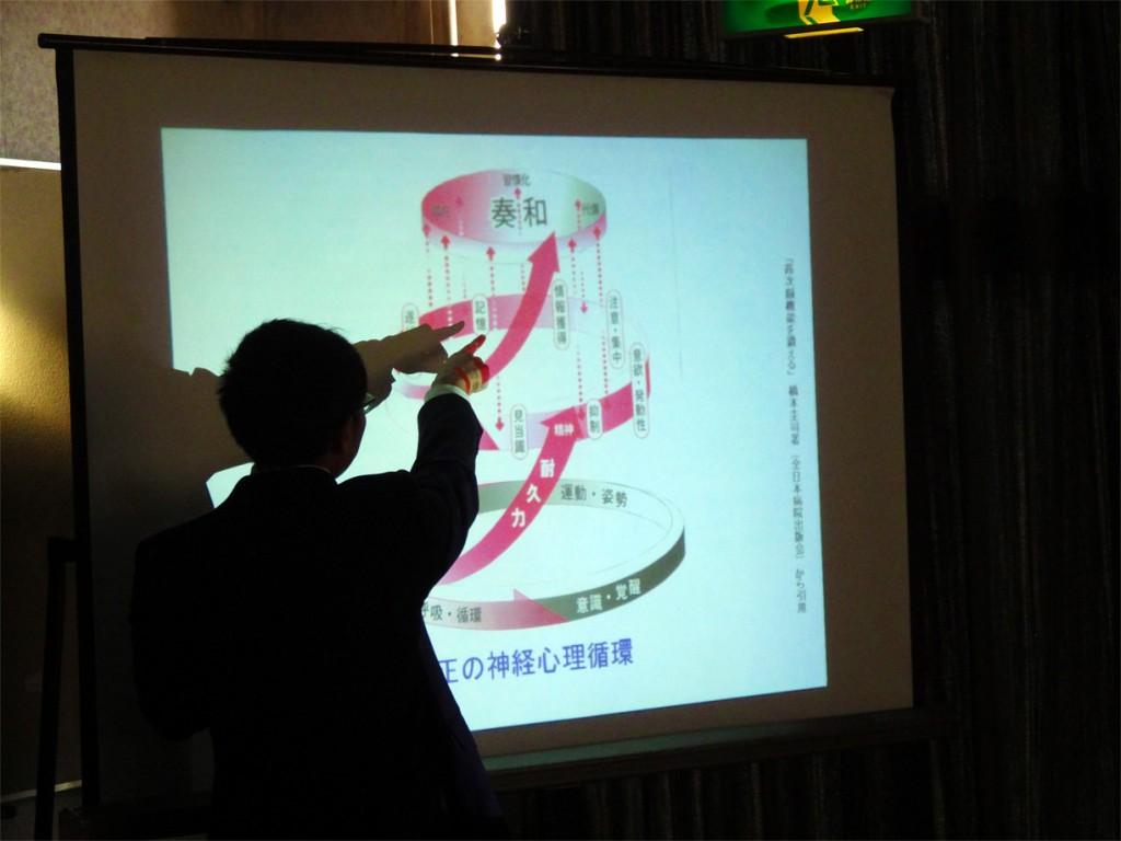 第2回講演会/「奏和」について説明する橋本先生