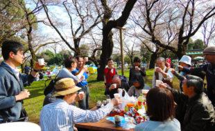 昨年の「第10回交流会in小金井公園」の様子