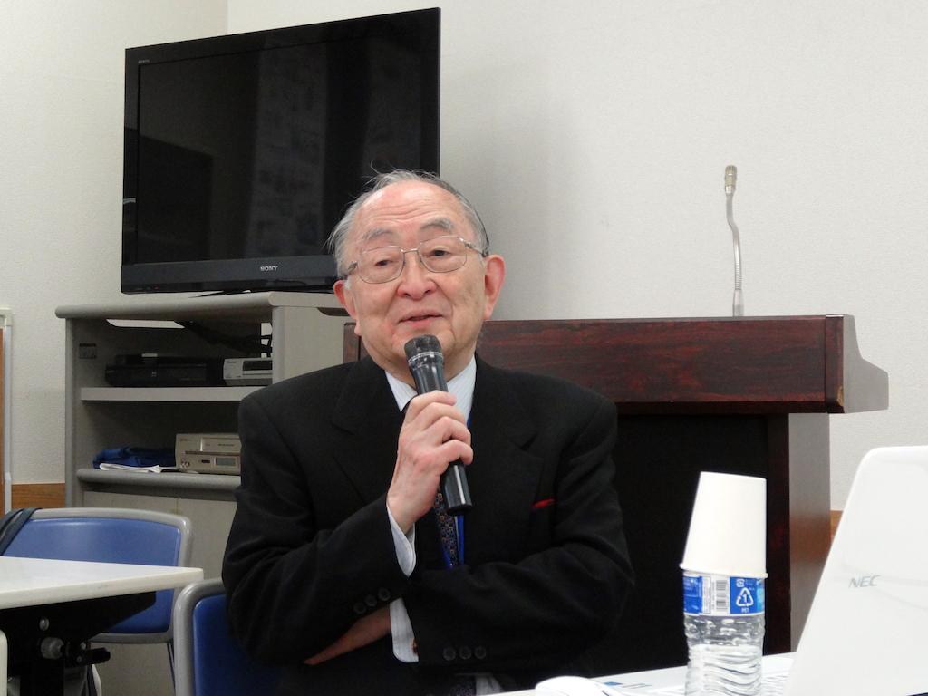 講師:いちごえ会顧問・上田敏先生